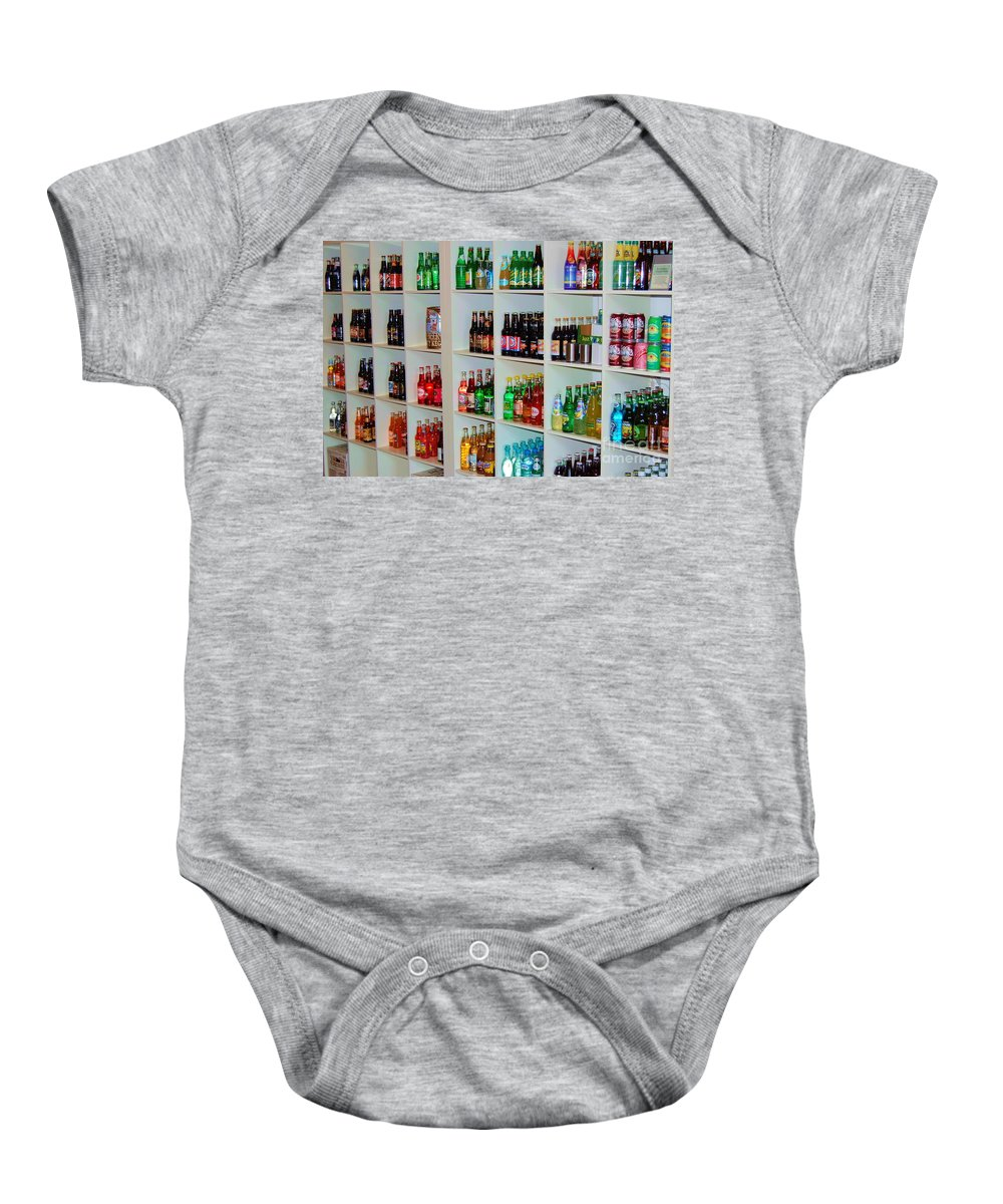 Soda Baby Onesie featuring the photograph The Soda Gallery by Debbi Granruth