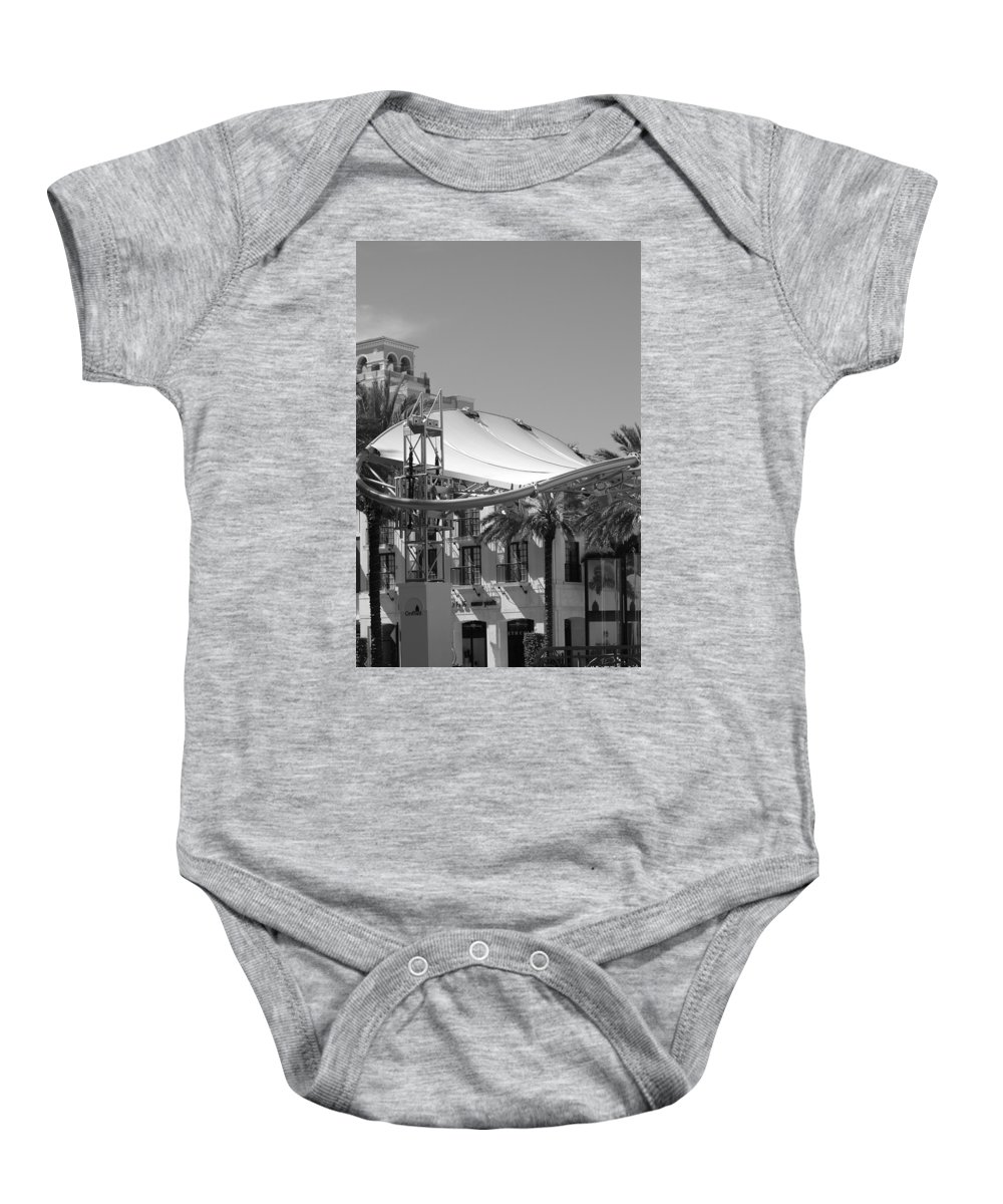 Black And White Baby Onesie featuring the photograph The Stage by Rob Hans