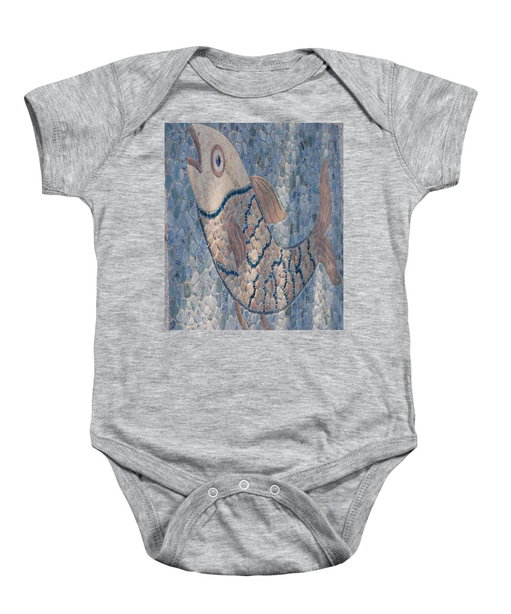 Fish Baby Onesie featuring the photograph The Stone Fish by Rob Hans