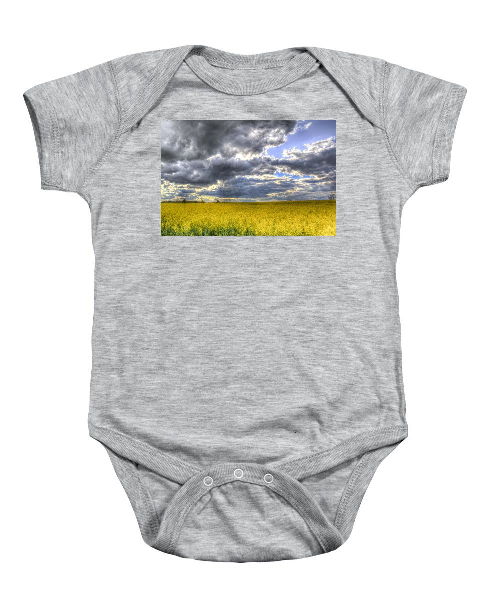 Storm Baby Onesie featuring the photograph The Storms Approach by David Pyatt