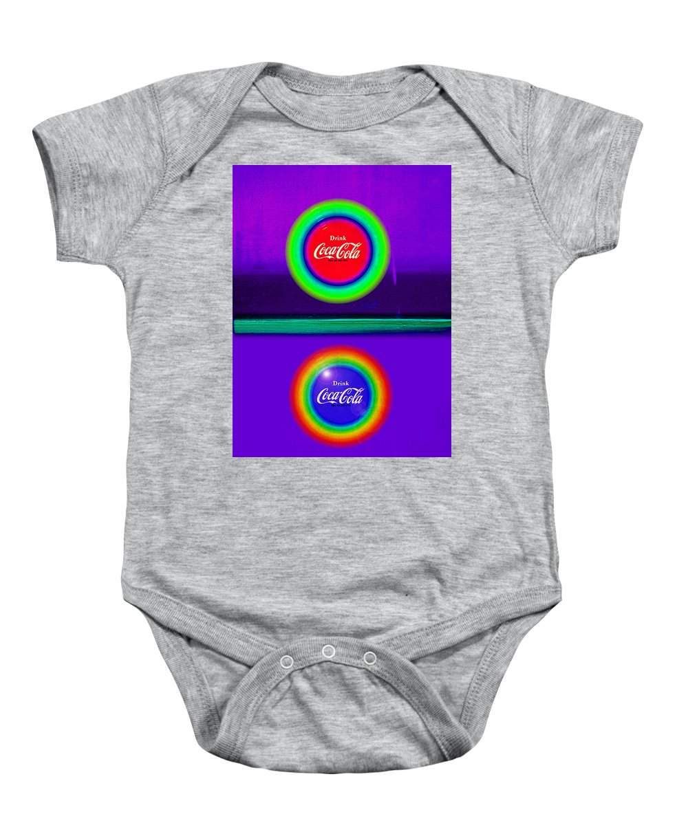Violet Baby Onesie featuring the painting The Sun In Colour by Charles Stuart