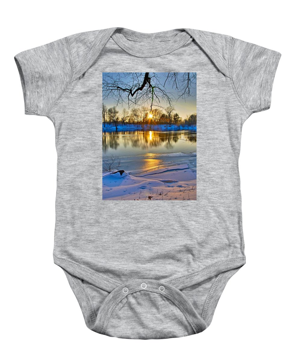 Snow Baby Onesie featuring the photograph The Sunny Side by Robert Pearson