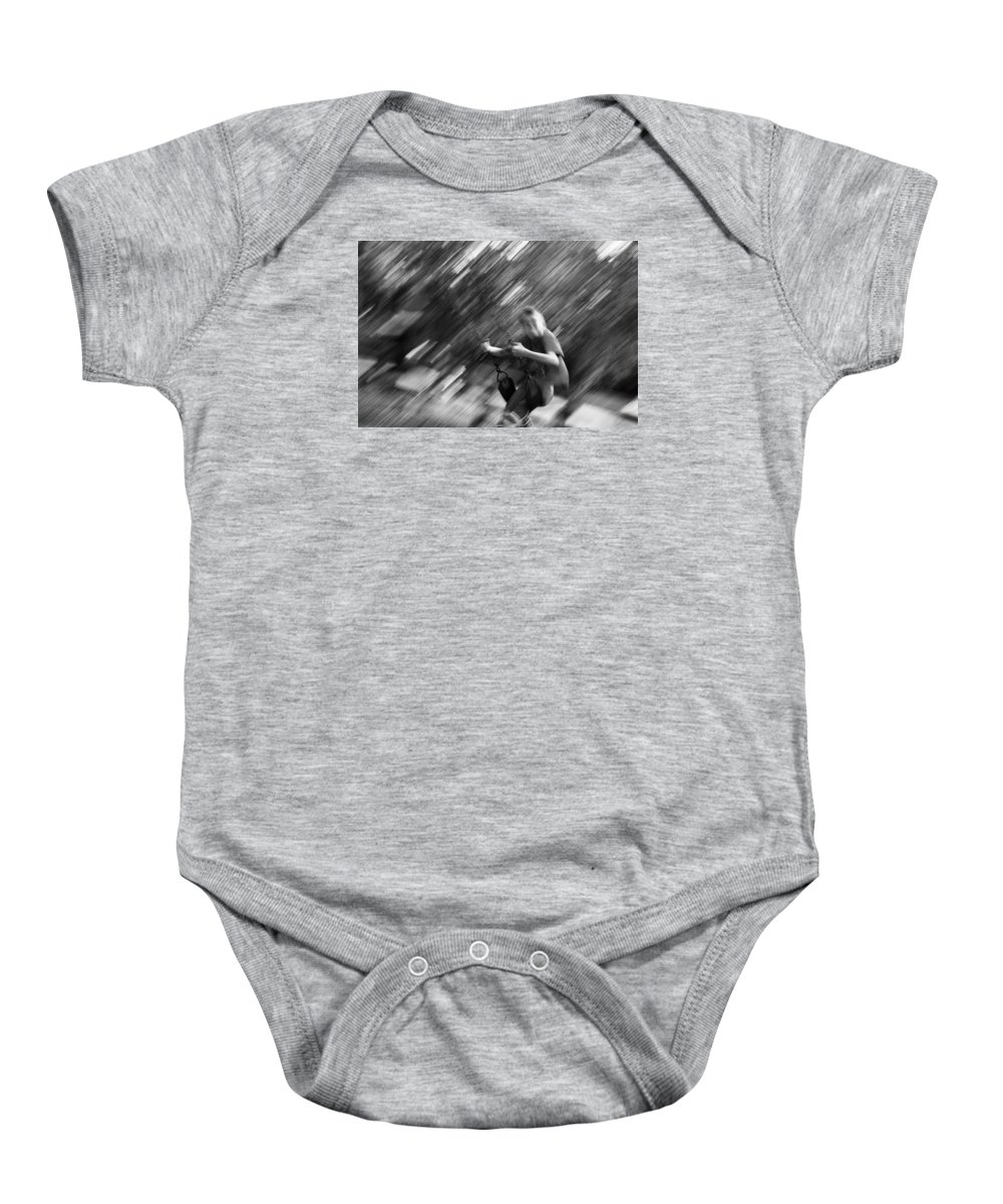 People Baby Onesie featuring the photograph The Swing by J Darrell Hutto
