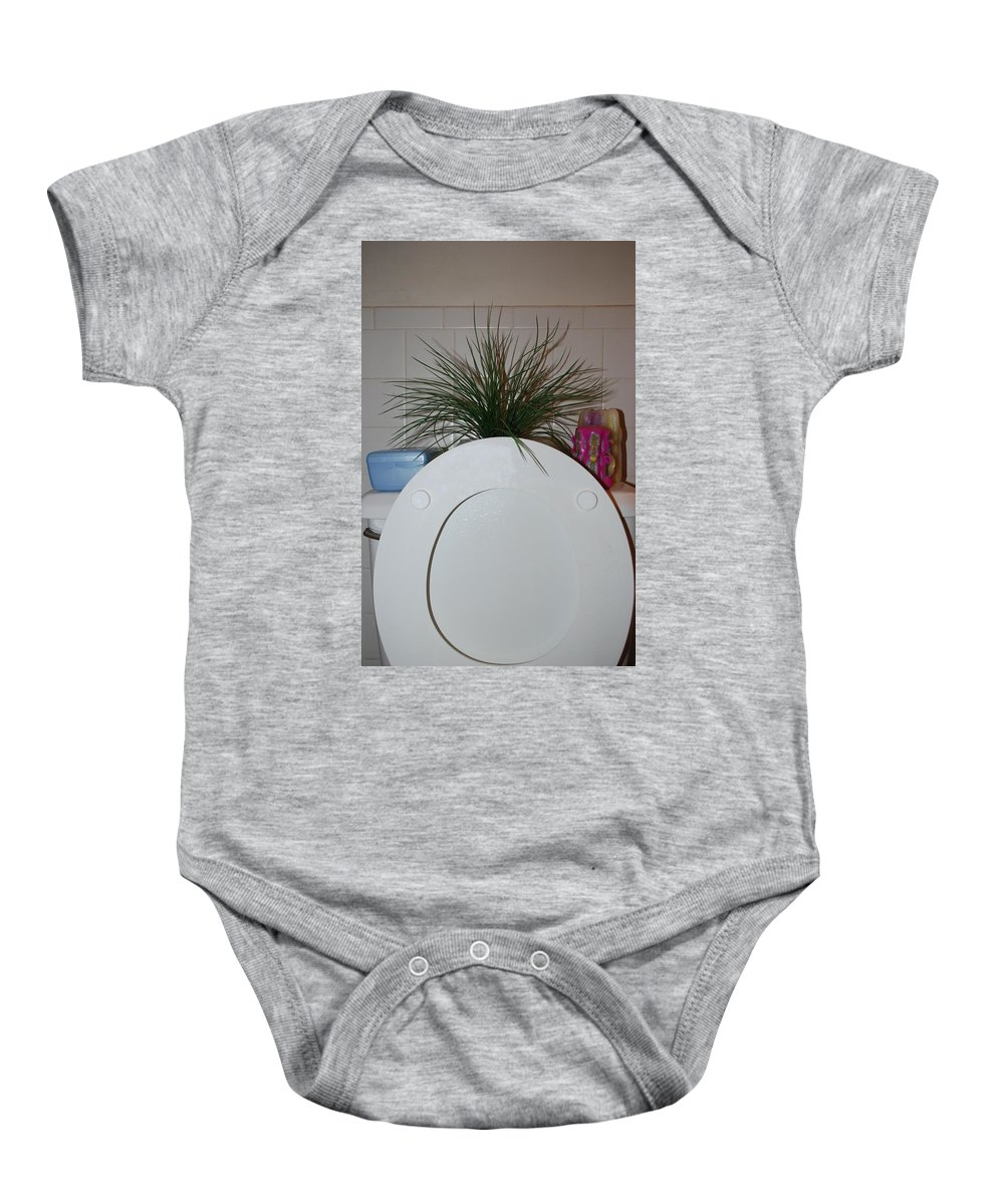 Toilet Baby Onesie featuring the photograph The Throne by Rob Hans