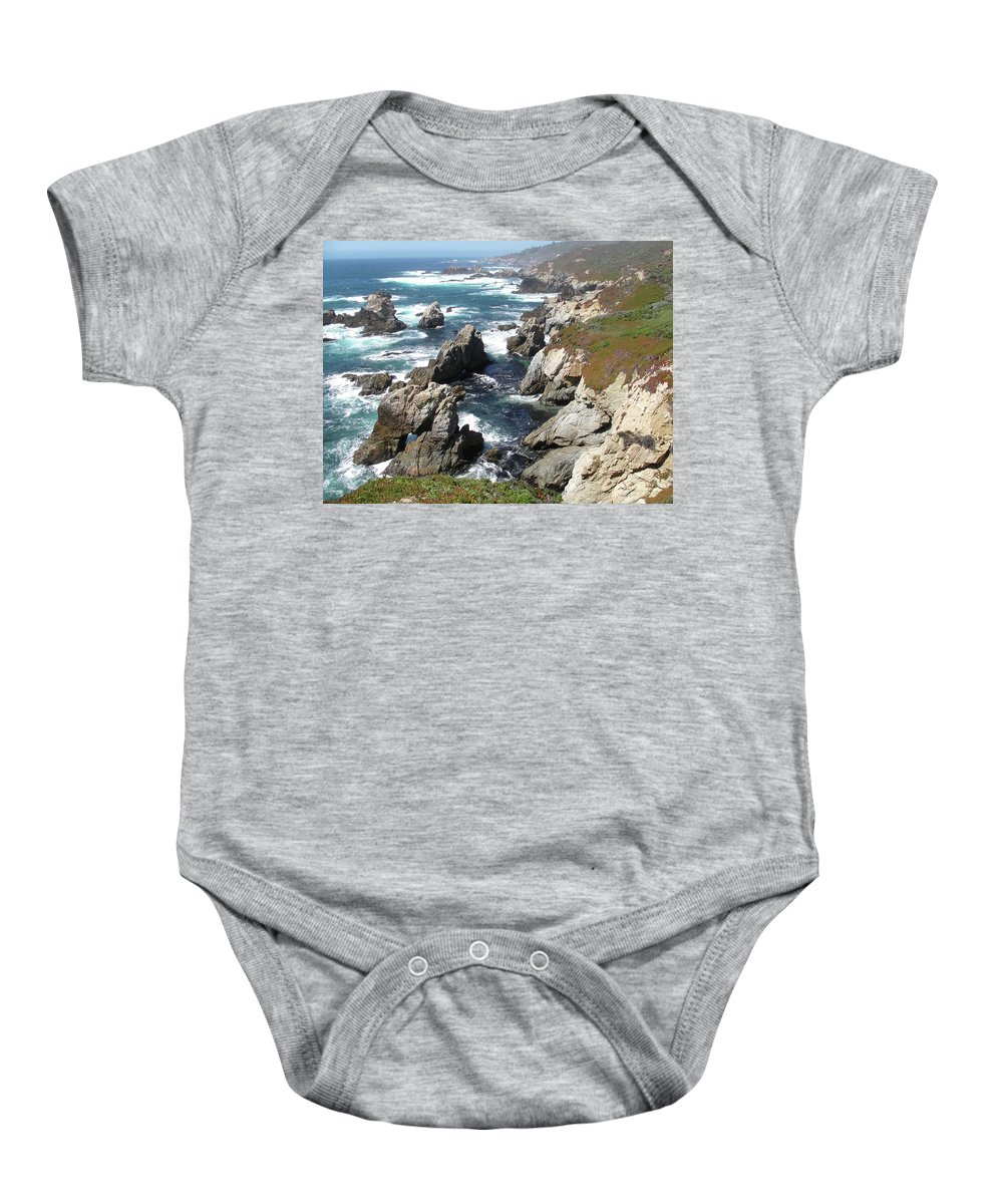 The Tintagel Coast Baby Onesie featuring the painting The Tintagel Coast by William Trost