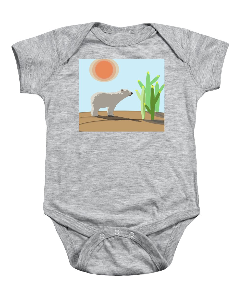 Bears Baby Onesie featuring the photograph The Tourist by Susan Newcomb