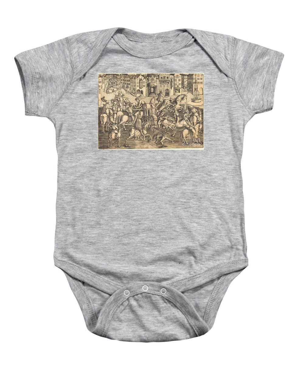 Baby Onesie featuring the drawing The Tournament by Master Mz