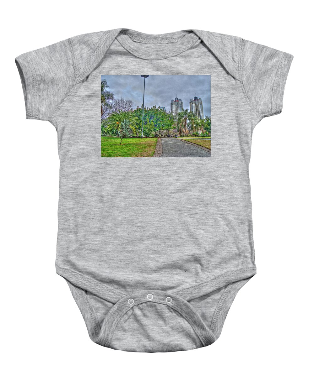 Towers Baby Onesie featuring the photograph The Towers by Francisco Colon
