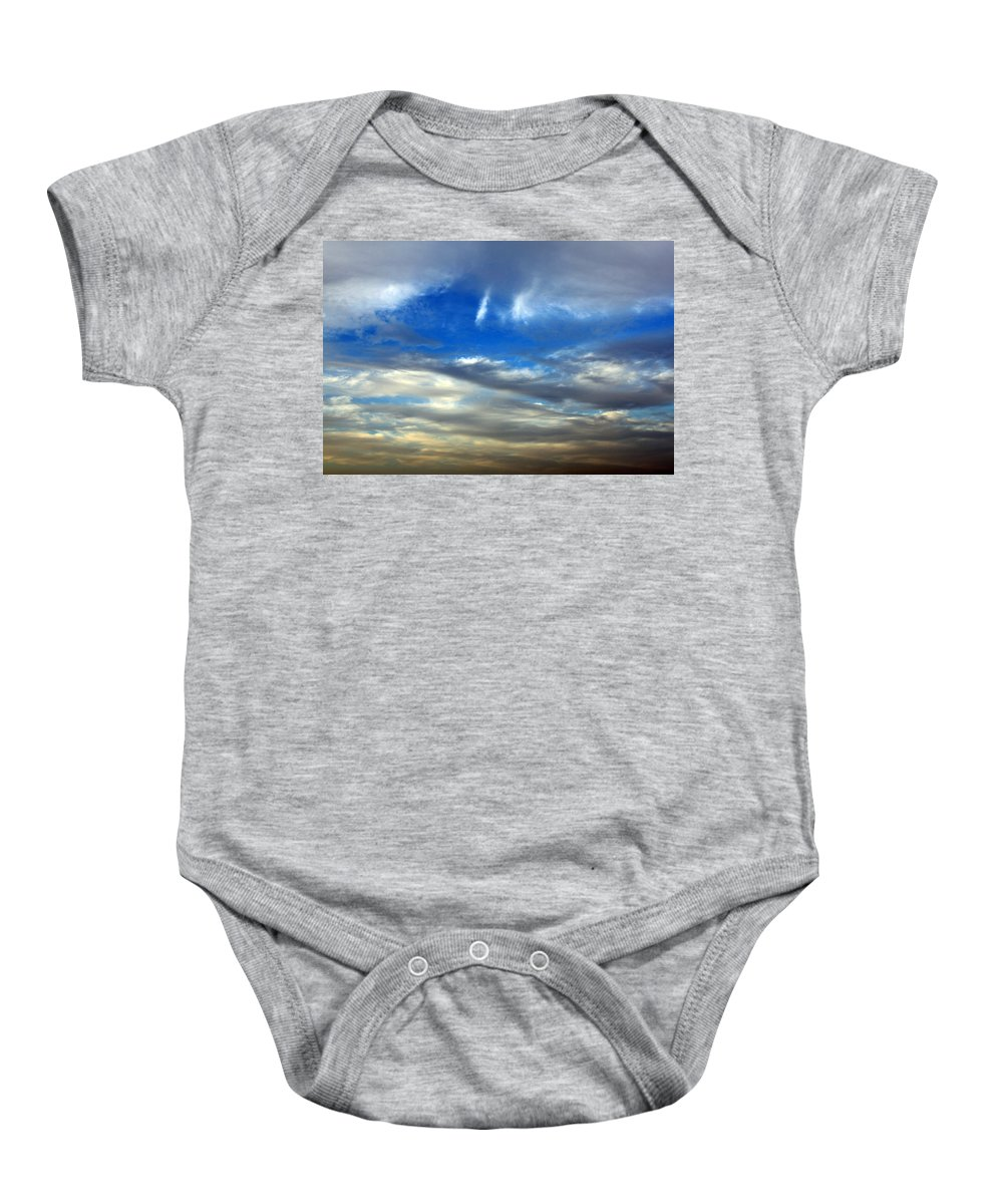 Heaven Baby Onesie featuring the photograph The Twin Lights by Munir Alawi