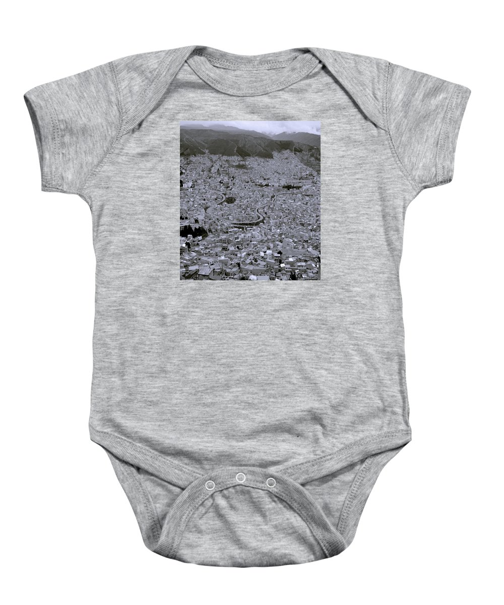 La Paz Baby Onesie featuring the photograph The Urban City by Shaun Higson