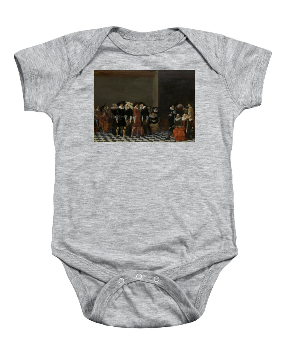 The Baby Onesie featuring the painting The Wedding Party by Duyster Willem Cornelisz