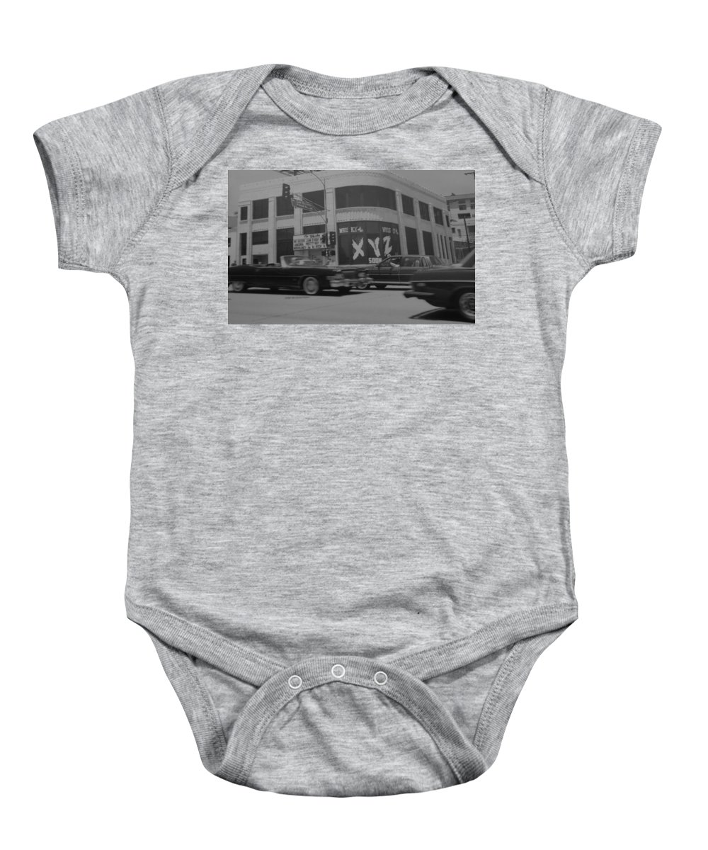 Black And White Baby Onesie featuring the photograph The Whiskey In Black And White by Rob Hans