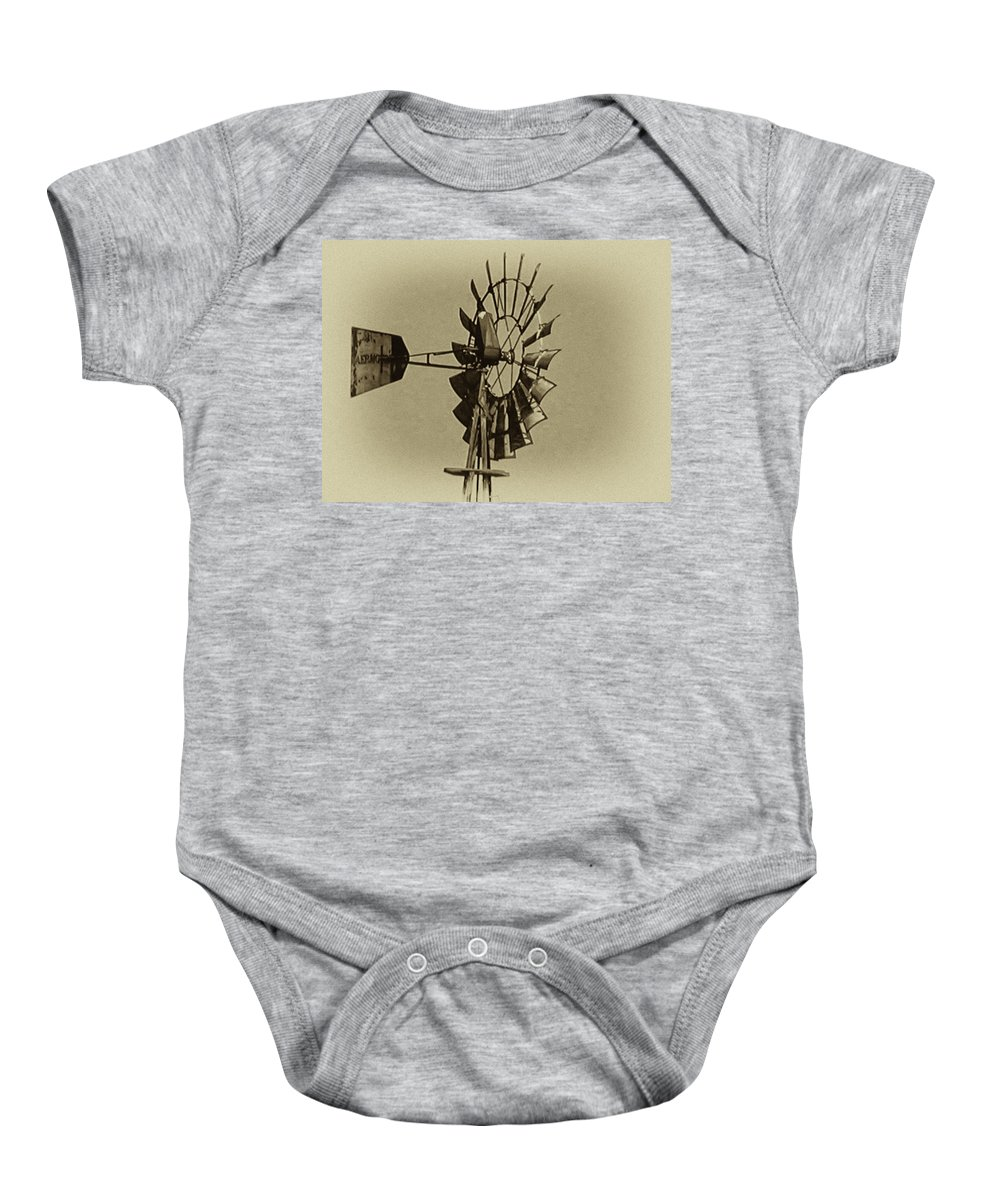 Wind Baby Onesie featuring the photograph The Windmills Of My Mind by Bill Cannon