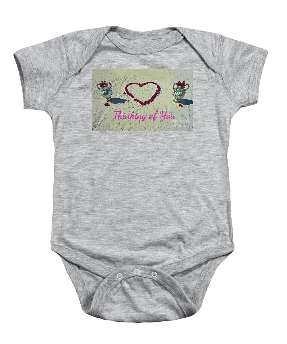 Thinking Of You Card Baby Onesie featuring the photograph Thinking Of You Card by John Malone