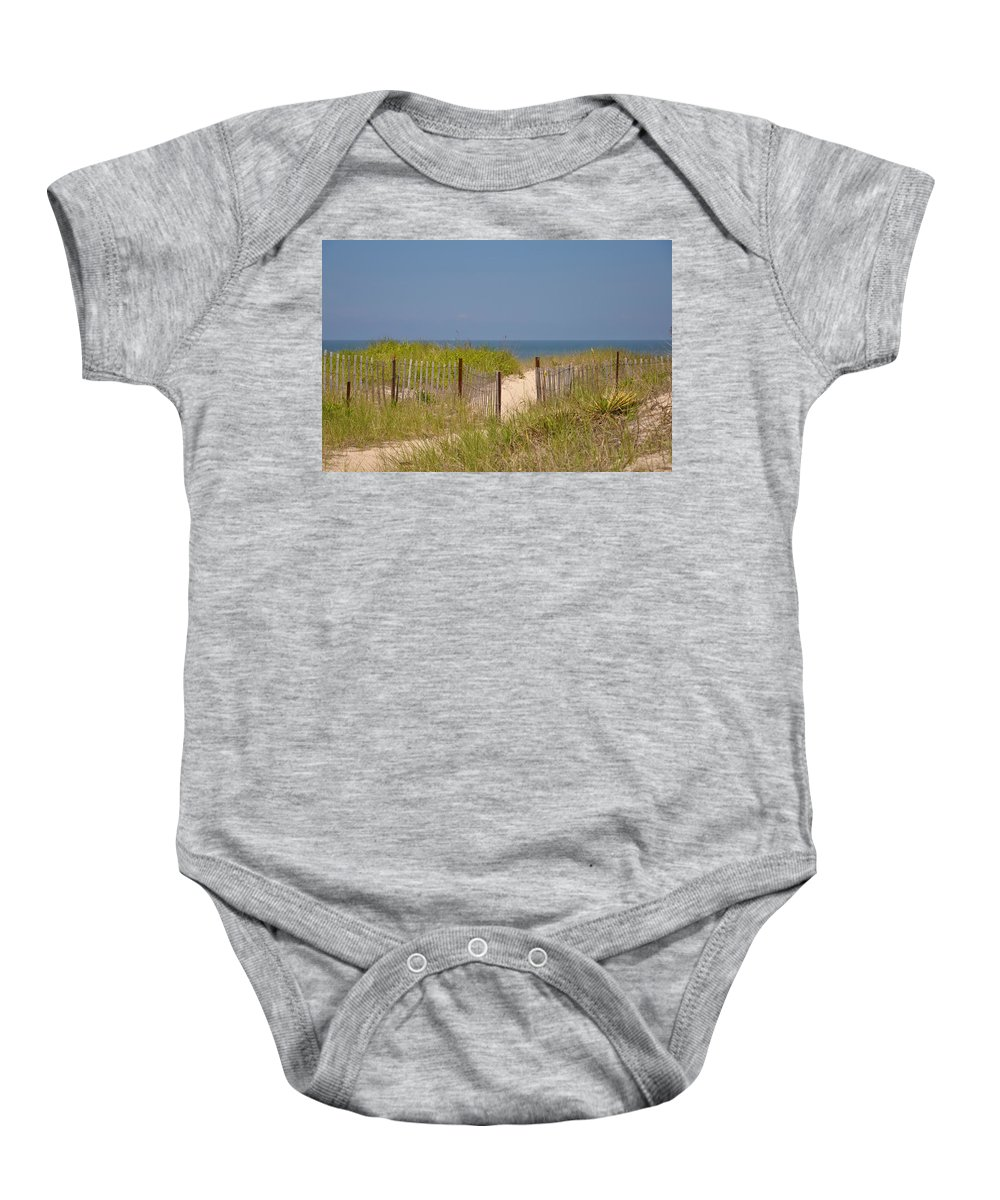 Beach Baby Onesie featuring the photograph This Way To The Beach by Bill Cannon