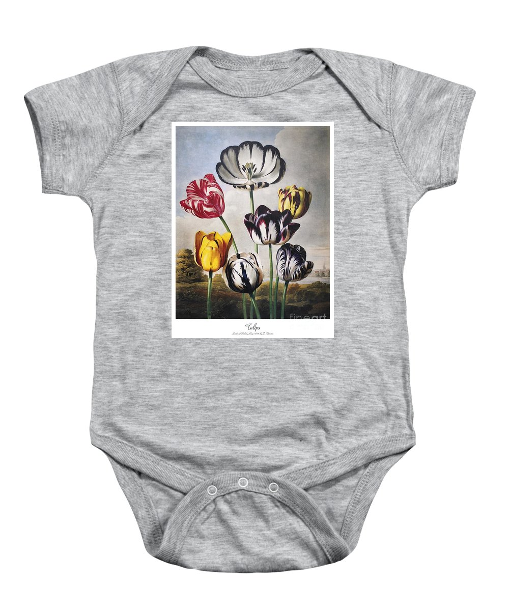 1798 Baby Onesie featuring the photograph Thornton: Tulips by Granger