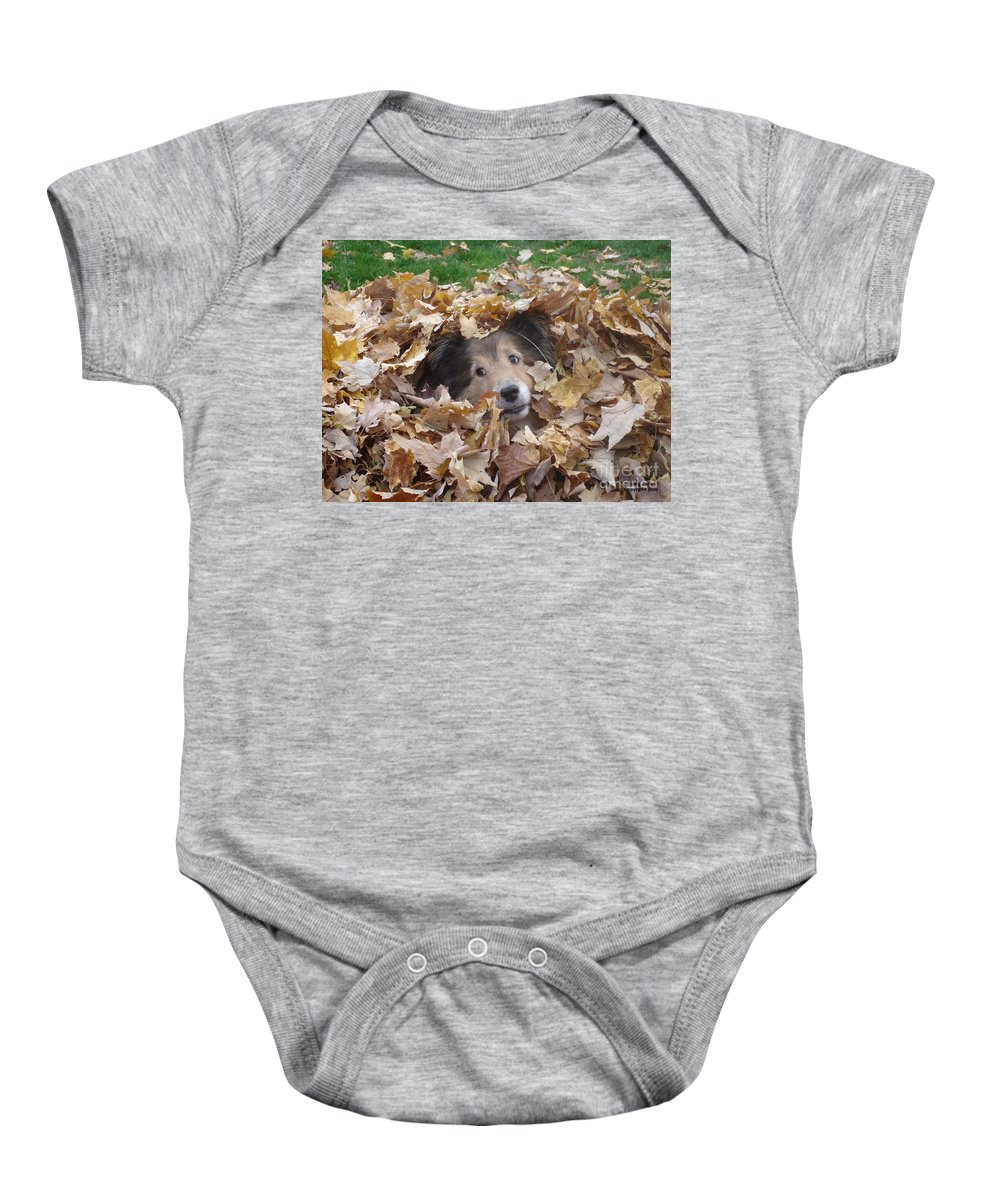 Dog Baby Onesie featuring the photograph Those Eyes by Shelley Jones