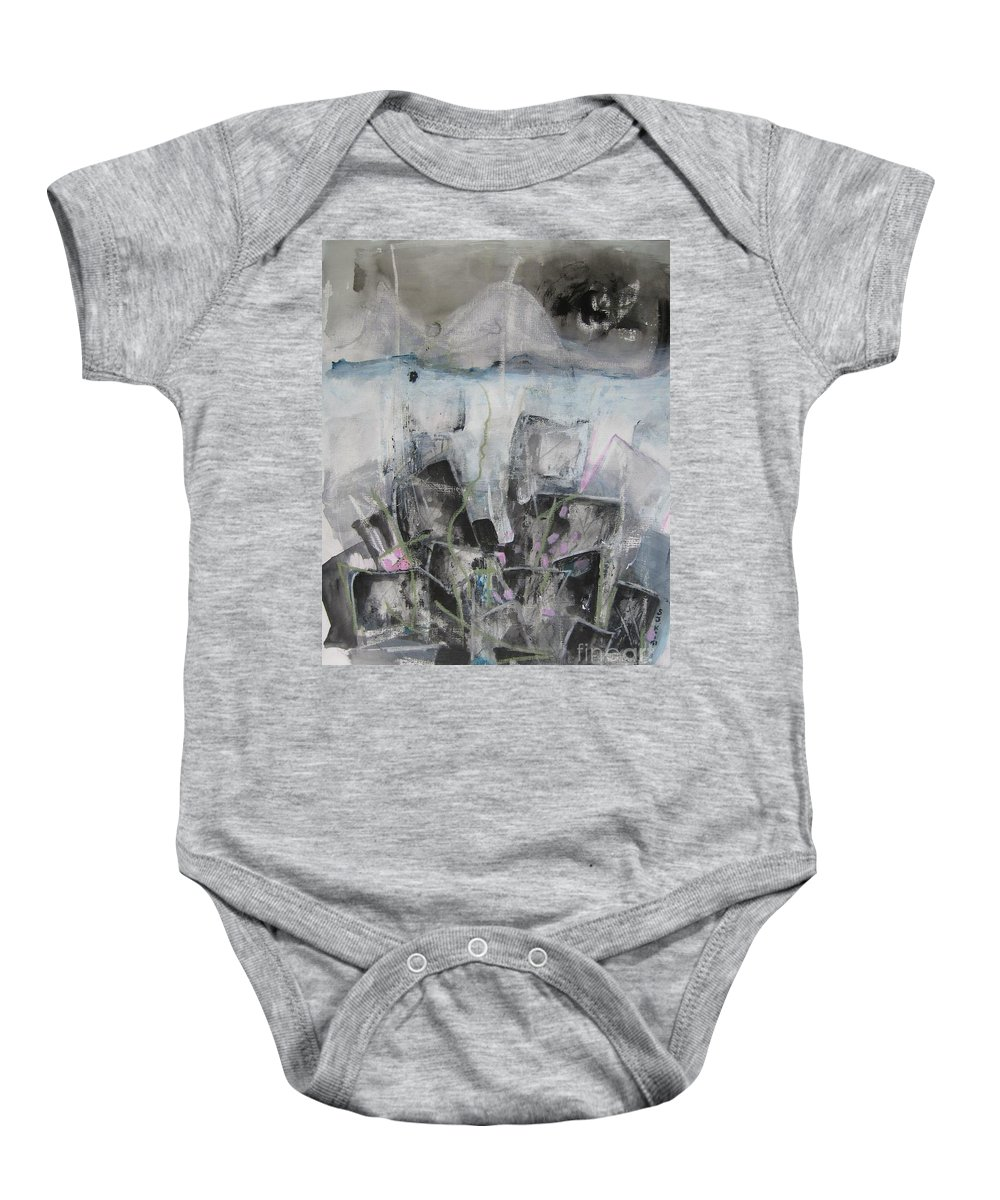 Cemetery Baby Onesie featuring the painting Three Arms by Seon-Jeong Kim