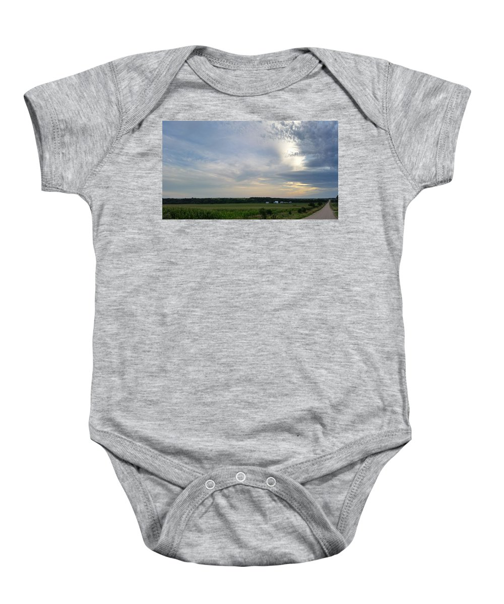 Landscape Baby Onesie featuring the photograph Thunder Road by Caryl J Bohn