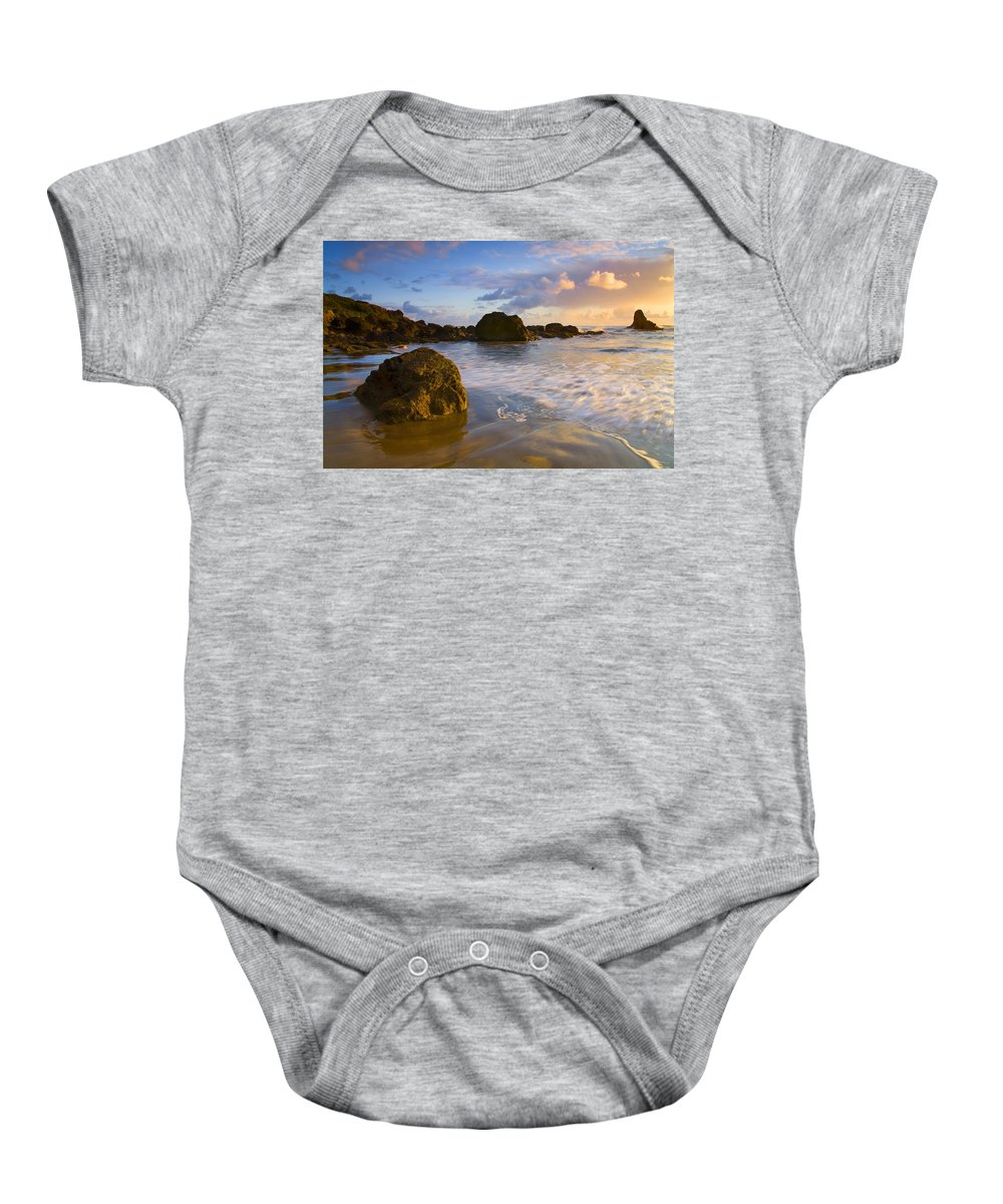 Beach Baby Onesie featuring the photograph Tidal Flow by Mike Dawson