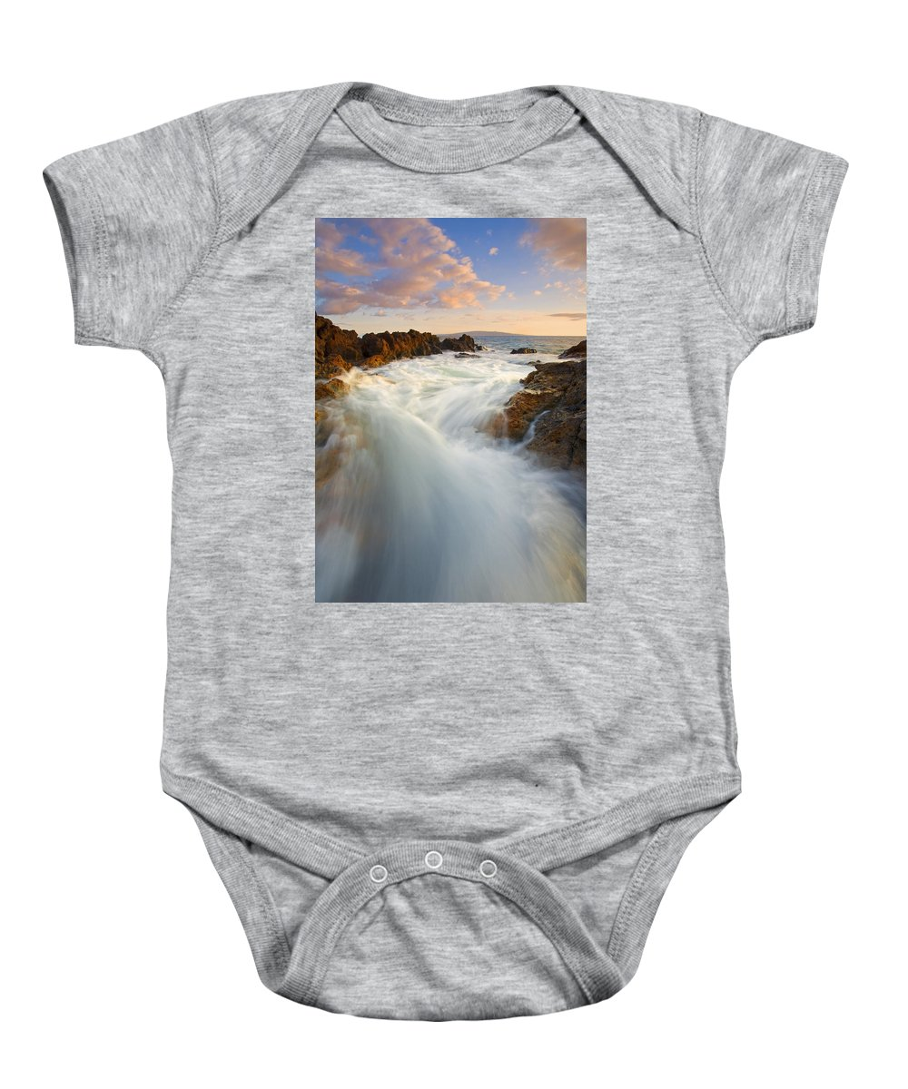 Surge Baby Onesie featuring the photograph Tidal Surge by Mike Dawson
