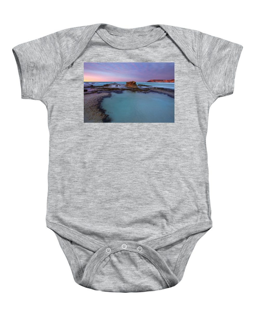 Seascape Tidepools Baby Onesie featuring the photograph Tidepool Dawn by Mike Dawson