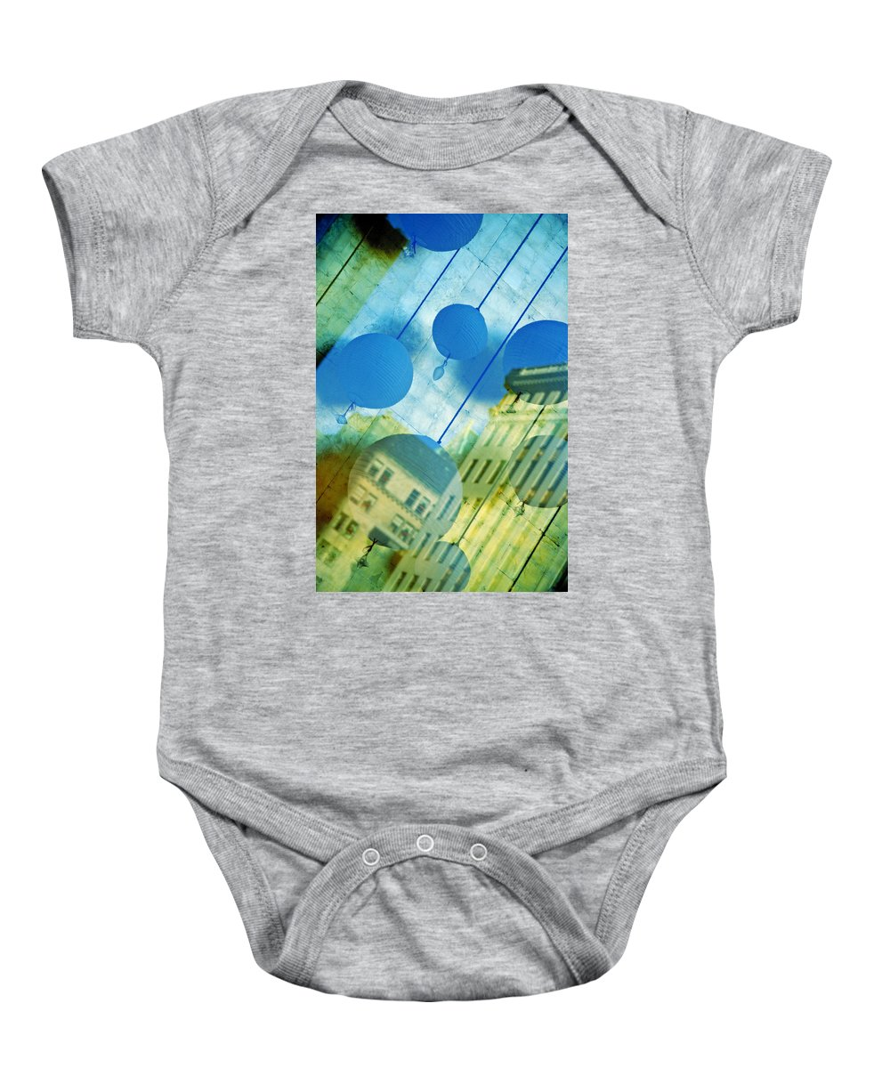 New York Baby Onesie featuring the photograph Tiffanys by Skip Hunt