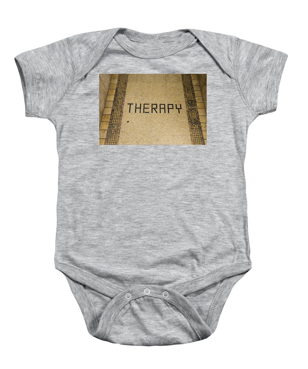 Tiles Baby Onesie featuring the photograph Tile Therapy by Erik Burg