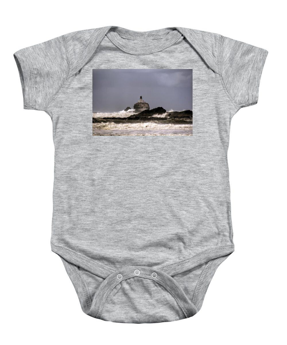 Hdr Baby Onesie featuring the photograph Tillamook Lighthouse by Brad Granger