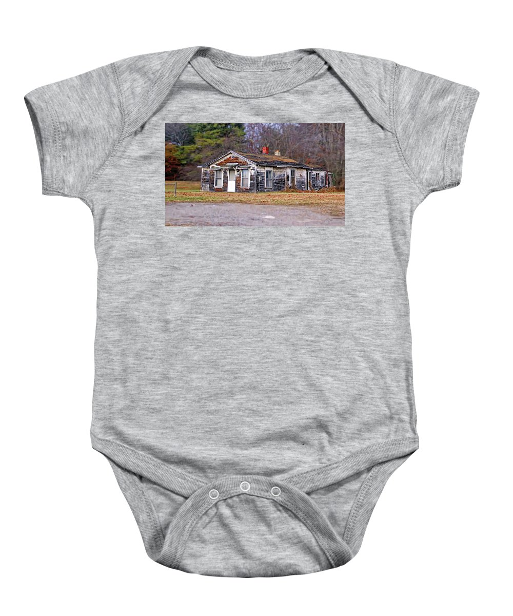 Delapitated Baby Onesie featuring the photograph Time Frozen by Catherine Melvin