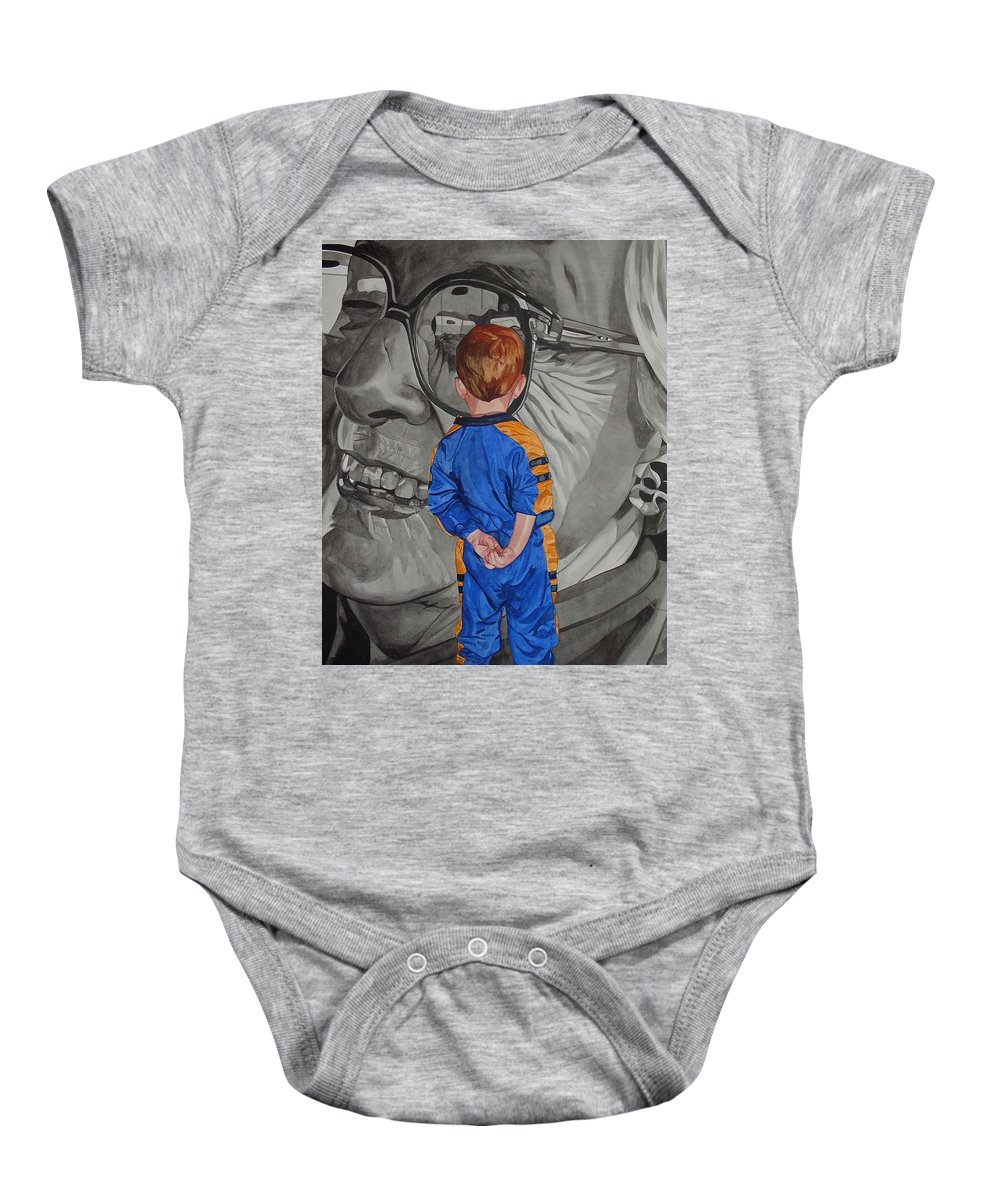 Children Baby Onesie featuring the painting Timeless Contemplation by Valerie Patterson