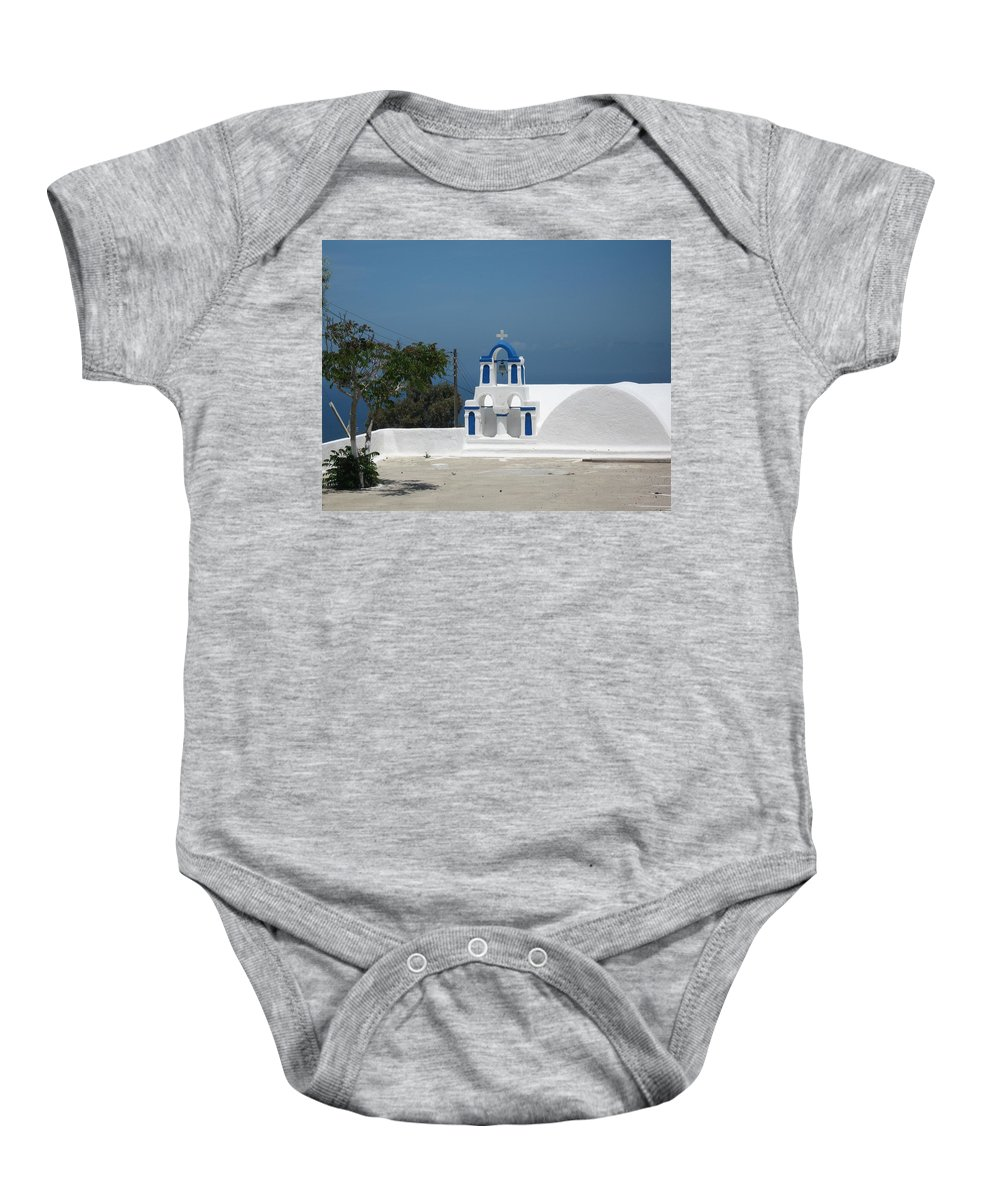 Greece Baby Onesie featuring the photograph Tiny Chapel by Yuri Hope