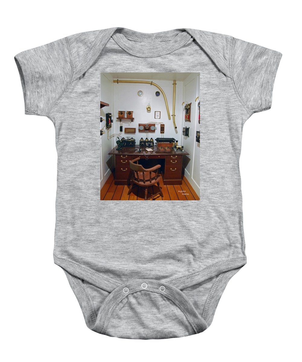 Titanic Baby Onesie featuring the digital art Titanic Communications by DigiArt Diaries by Vicky B Fuller