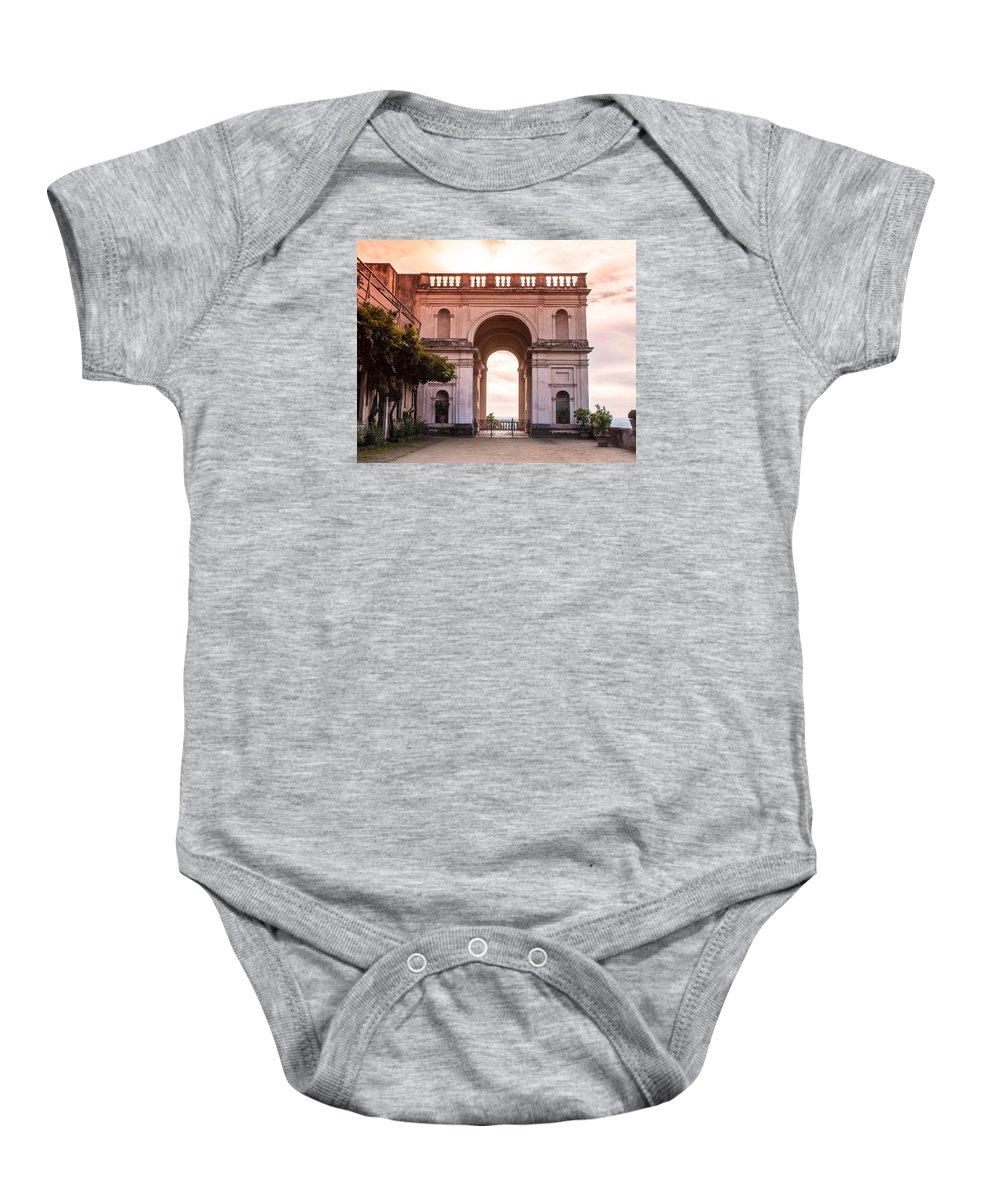 Italy Baby Onesie featuring the photograph Tivoli Arch by Karen Regan