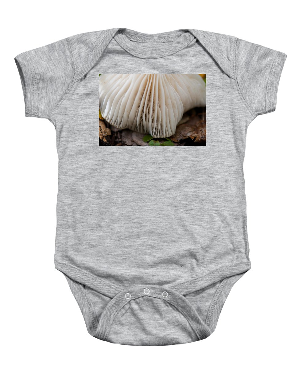 Toadstool Baby Onesie featuring the photograph Toadstool by Lisa Knechtel