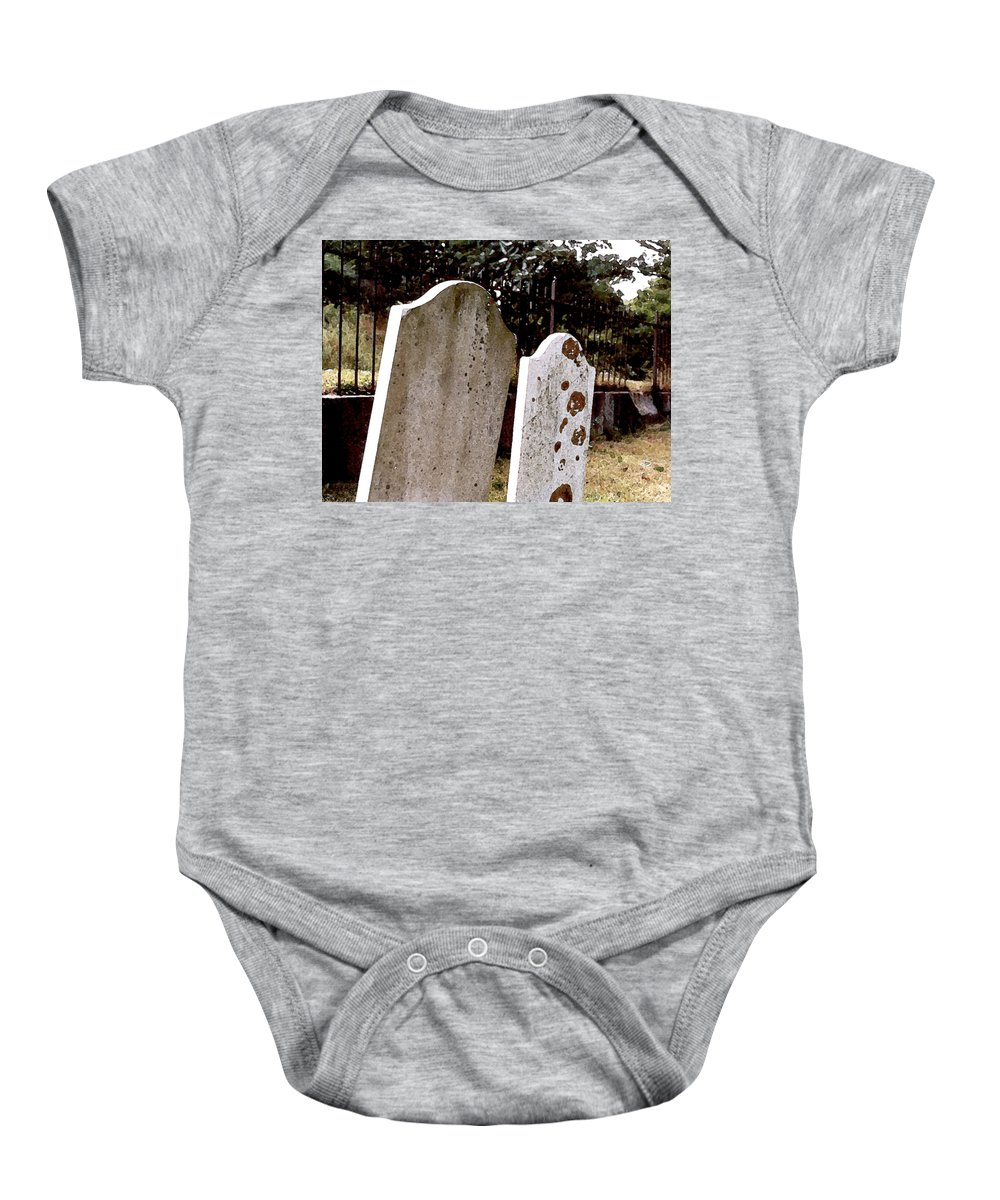 Cemetery Baby Onesie featuring the painting Together Through Time by Paul Sachtleben