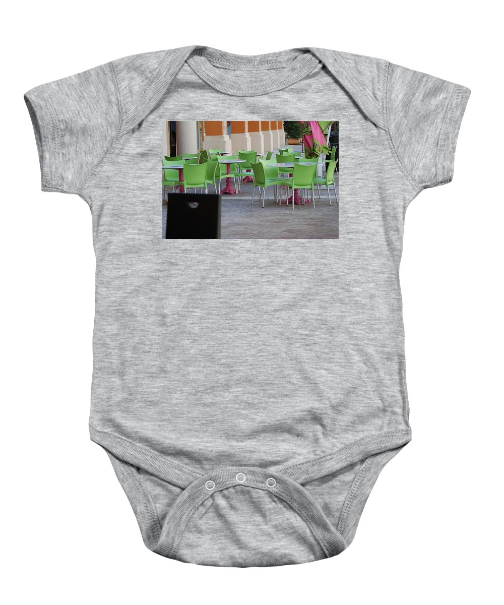 Chairs Baby Onesie featuring the photograph Token Chair by Rob Hans
