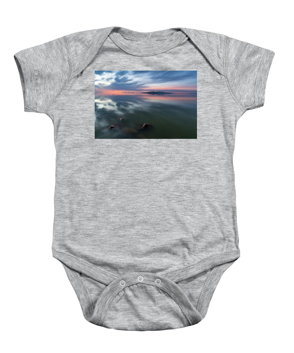 2017 Baby Onesie featuring the photograph Tonal Sunset by Justin Johnson