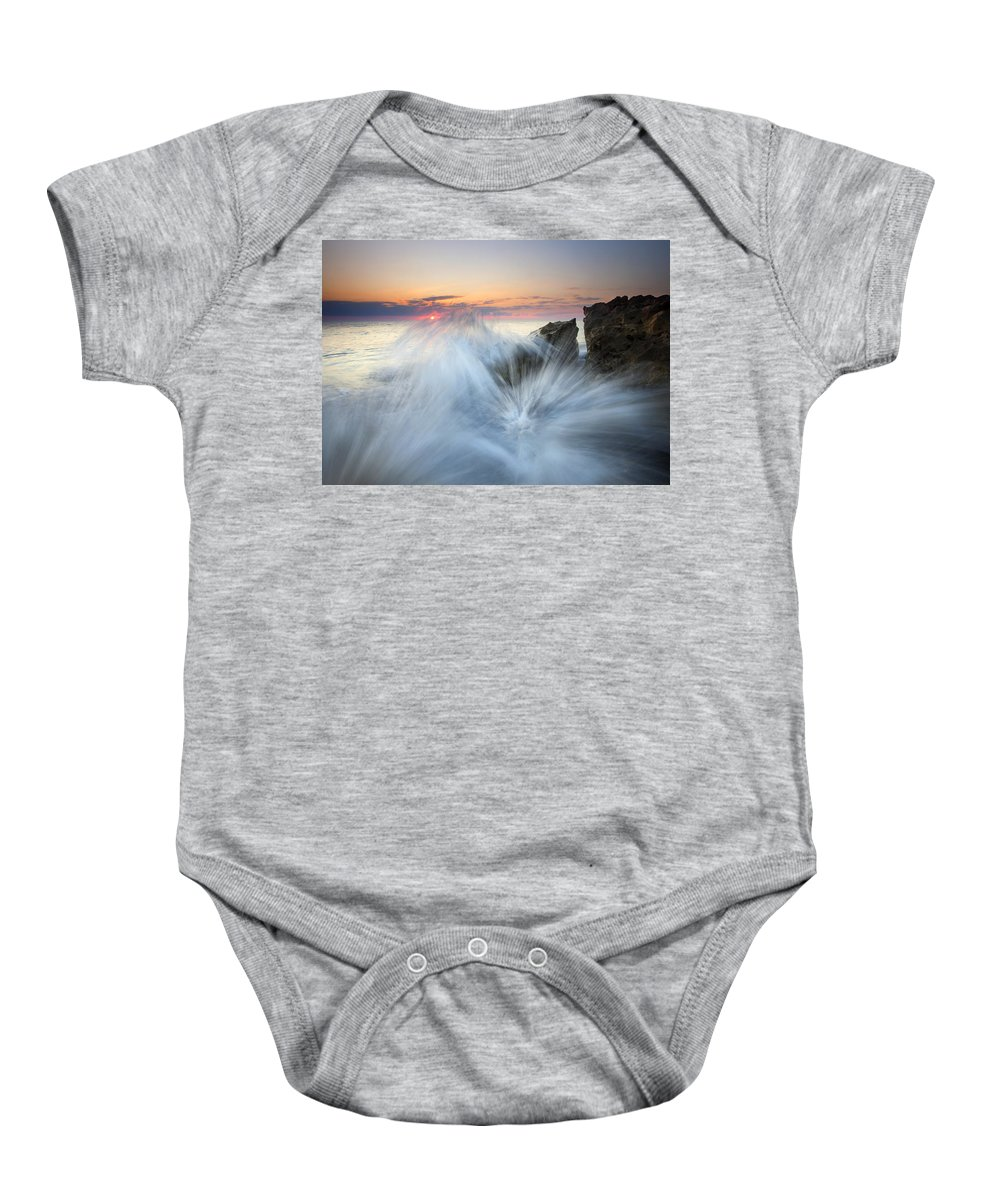 Sunrise Baby Onesie featuring the photograph Too Close For Comfort by Mike Dawson
