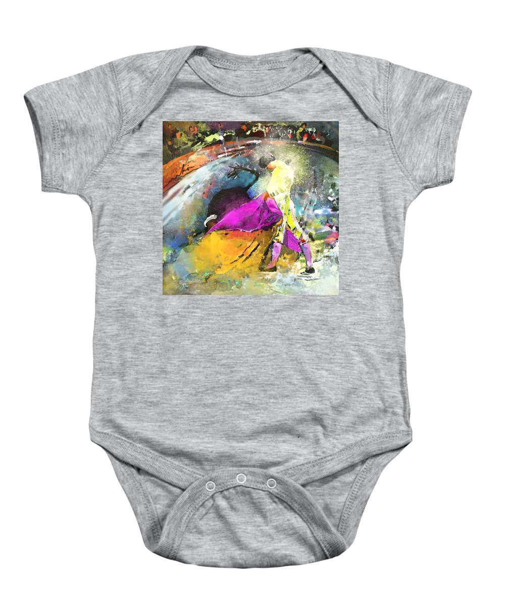 Animals Baby Onesie featuring the painting Toroscape 28 by Miki De Goodaboom