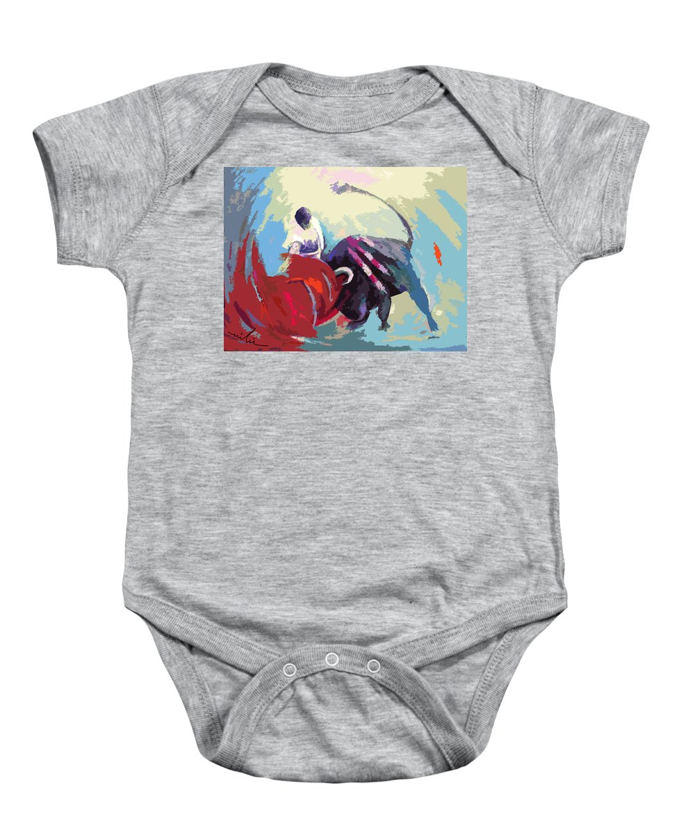 Animals Baby Onesie featuring the painting Toroscape 33 by Miki De Goodaboom
