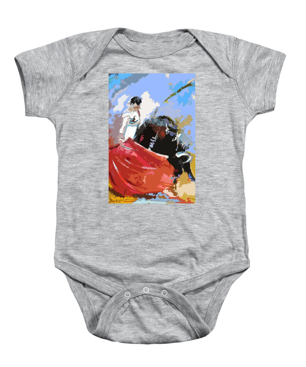 Animals Baby Onesie featuring the painting Toroscape 36 by Miki De Goodaboom