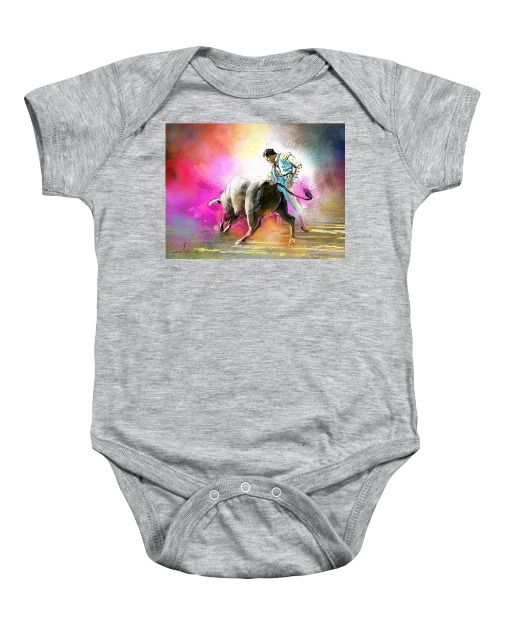 Animals Baby Onesie featuring the painting Toroscape 44 by Miki De Goodaboom