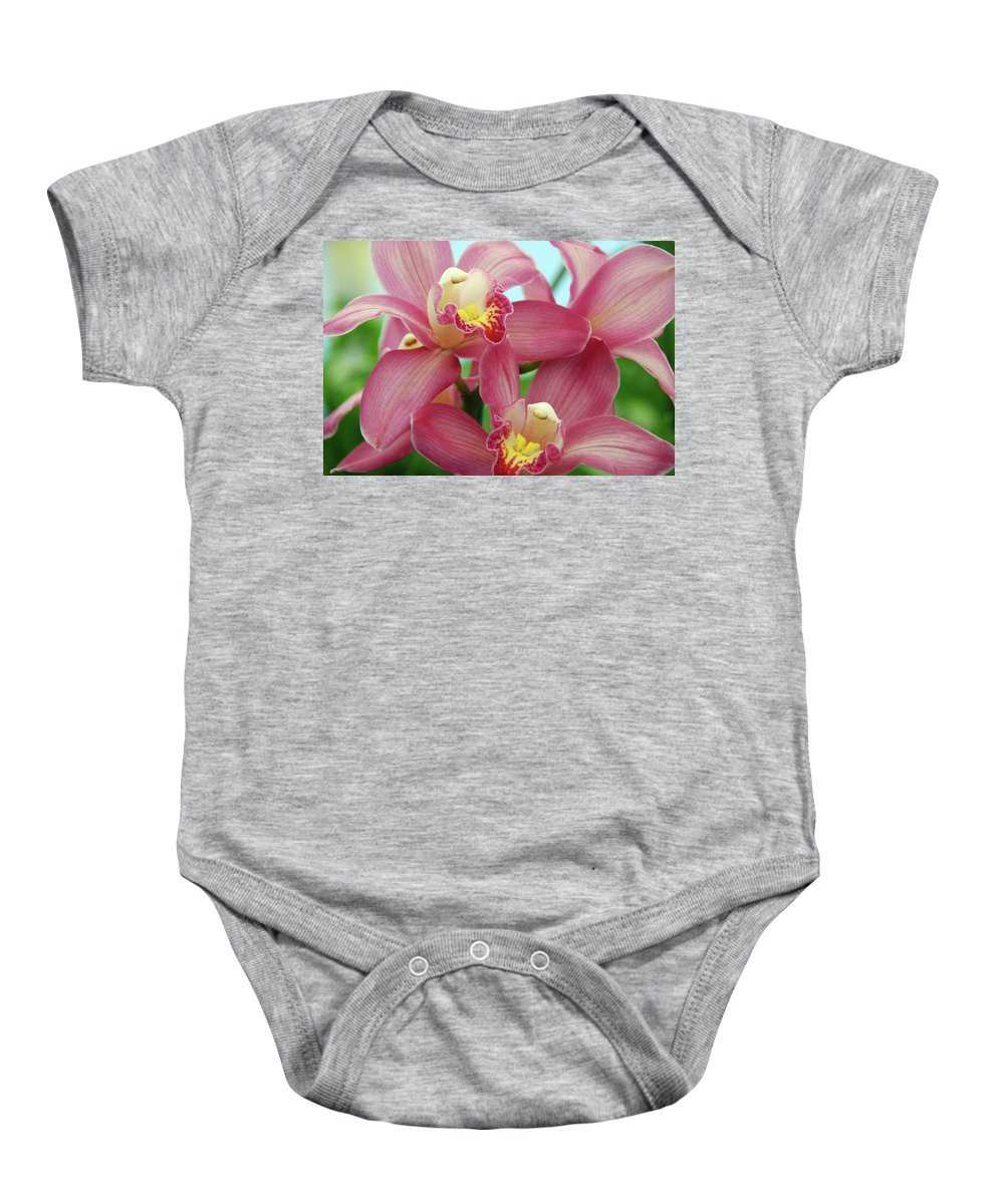 Orchids Baby Onesie featuring the photograph Touch Me by Susanne Van Hulst