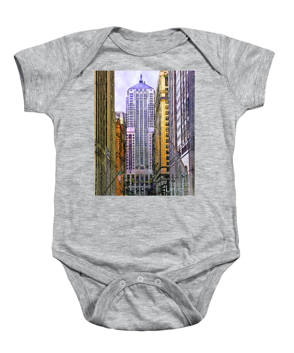 Trading Places Baby Onesie featuring the digital art Trading Places by John Beck