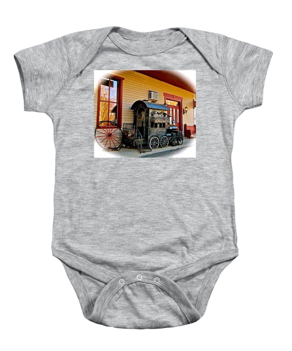 Locomotive Baby Onesie featuring the photograph Train Depot by Elizabeth Tillar