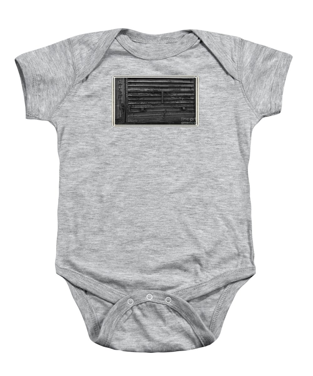 Train Baby Onesie featuring the photograph Trains 13 Box Camera Border by Jay Mann