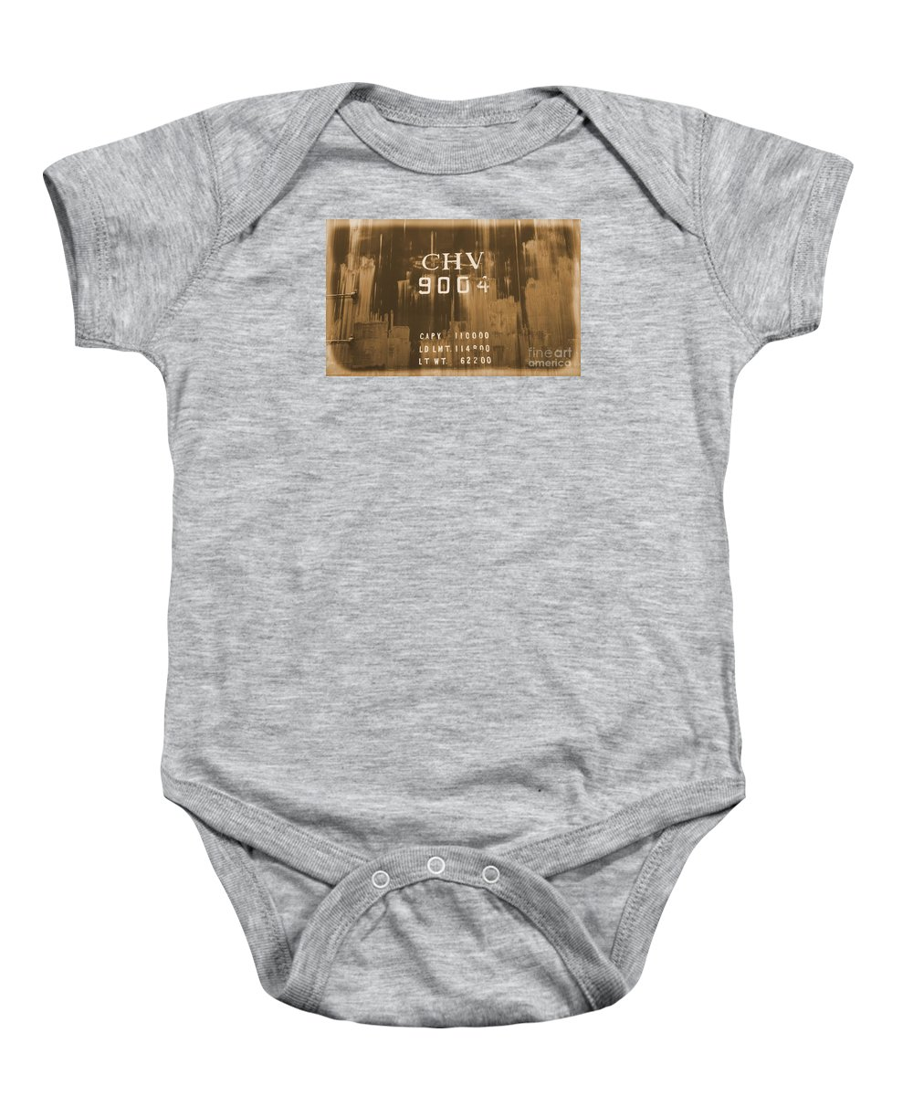 Train Baby Onesie featuring the photograph Trains 14 Albumen by Jay Mann