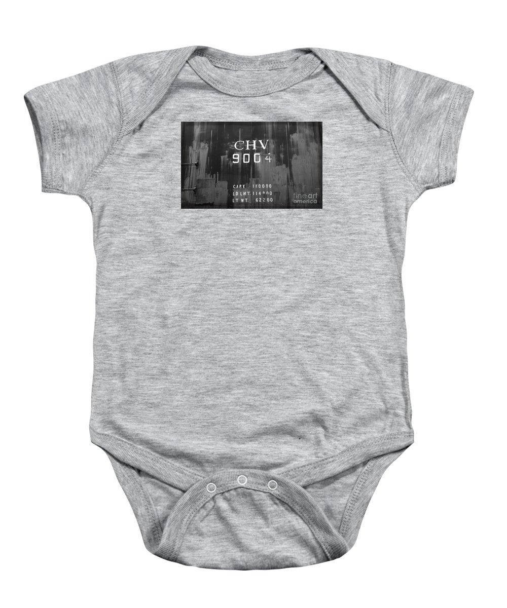 Train Baby Onesie featuring the photograph Trains 14 Box Camera by Jay Mann