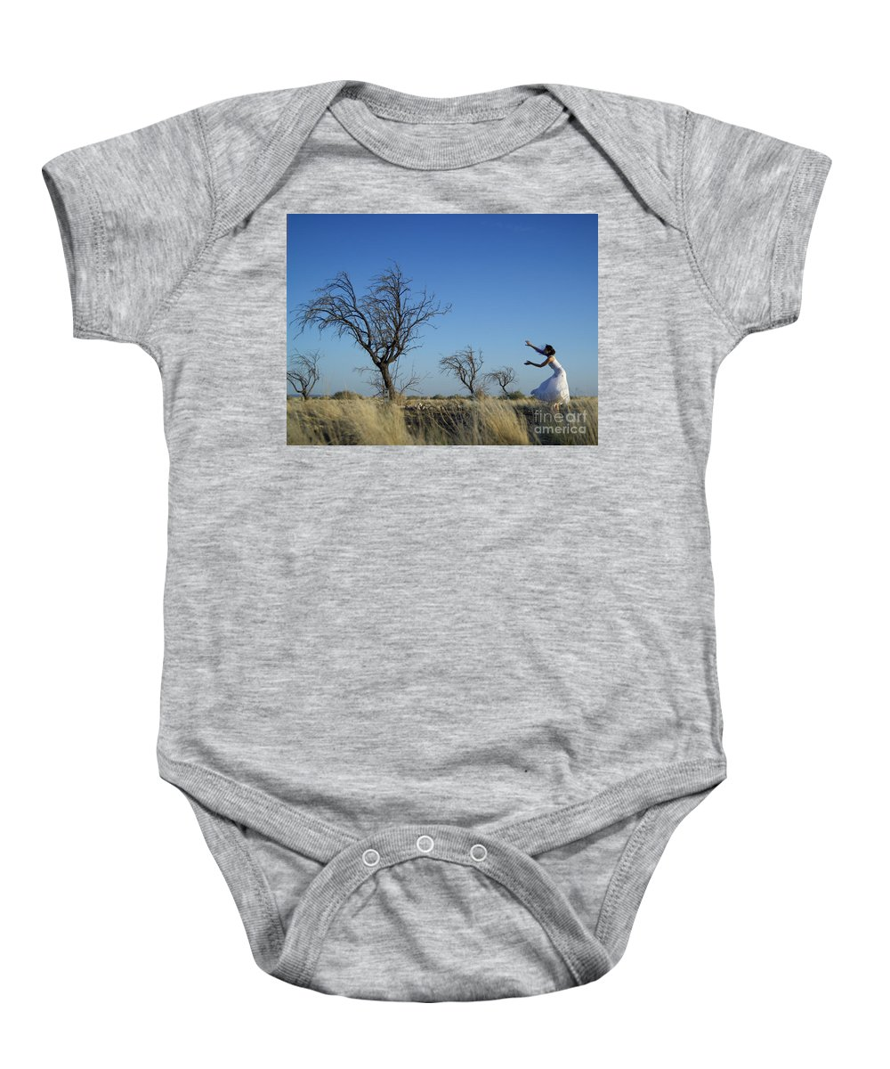 Landscape Baby Onesie featuring the photograph Tree Echo by Scott Sawyer